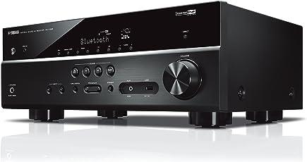 Yamaha AV-Receiver RX-V385 MC schwarz – Hochwertiger Mehrkanal-Receiver mit kraftvollem 5.1 Surround-Sound - ideal für das eigene Heimkinosystem – Kompatibel mit 4K Ultra HD