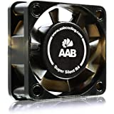 AAB Cooling Super Silent R4 - 40mm Ventilateur pour Boîtier PC Silencieux et Efficace avec 4 Pads Anti Vibrations   12V   Ventilation PC   4cm   Ventilo PC   Fan PC