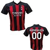 Maglia Calcio Milan Personalizzabile Replica Autorizzata 2020-2021 Bambino (Taglie 2 4 6 8 10 12) Adulto (S M L XL)