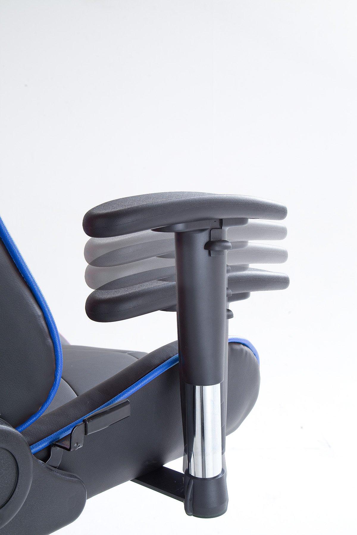 Robas Lund MC Racing 7 Silla de Gaming/Oficina/Escritorio con Asiento Deportivo, Poliéster, Negro y Azul, 58x69x125 cm