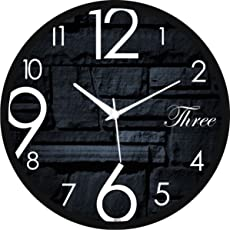 Regent Round Wall Clock with Glass for Home/Bedroom / Living Room/Kitchen
