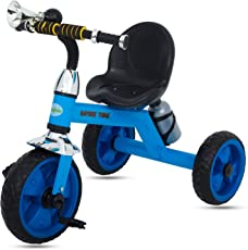 GoodLuck Baybee - Children Plug and Play Kids Tricycle Trike with Bugle Horn and Water Bottle Kid's for 2-5 Years Baby Tricycle Ride on Outdoor | Suitable Babies for Boys & Girls - (Blue)
