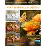 Next Beautiful Blossoms - Grayscale Colouring Book for Adults (Low Contrast): Edition: Full pages: 1 (Simply Coloring by…