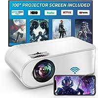 Vidéoprojecteur WiFi, YABER 6500 Lumens Mini Projecteur Soutien Full HD 1080P Rétroprojecteur avec Fonction de Zoom…