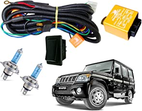 Autopearl Halogen Headlamp Wiring Harness Kit for Mahindra Bolero (Set of 3)