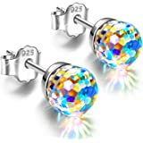 Alex Perry Regalo per Lei, Orecchini da Donna Fantastic World Series, Argento Sterling 925, 6-8mm Cristalli da Swarovski, Reg
