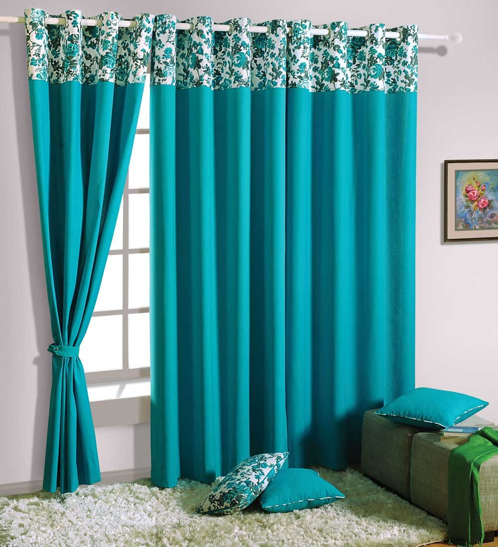 Design Door Curtains buy swayam solid eyelit door curtain turquoise curd p2711 online at low prices in india amazon in