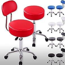 Kesser Rollhocker Drehstuhl Arbeitshocker Drehhocker Arzthocker Praxishocker Laborhocker Stuhl Sitz Hocker Kosmetik dicke Polsterung
