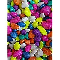 Ohhsome [1Kg] Multi Color Crystal Pebbles Pebbles Pebbles Decorative Small Stone For Garden/Lawn/Aquarium Decoration…