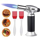 flintronic Chalumeau de Cuisine Torche de Cuisine Butane Briquet Chalumeau Gaz Cuisine Verrou de Sécurité Réglable Flammes av