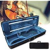 Funda para violín 4/4 con 2 correas ajustables, color negro y azul