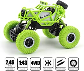 Vaibhavi Enterprise M-RC Waterproof 1:43 Scale 2.4 GHZ Dirt Drift Remote Controlled Rock Crawler RC Monster Car, 4 Wheel Drive (Multicolour)