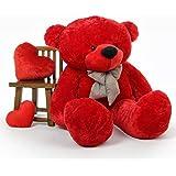 Jesper Branded Teddy Bear Valentines Day - 3 Feet (91 cm, Red)