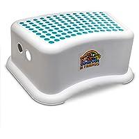 Lama Sam & Friends - Sgabello step step per bambini da circa 18 mesi con funzione antiscivolo (Acqua)