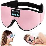 Sleep Headphones,3D Sleep Mask Bluetooth 5.0 Wireless Sleeping Headphoens Built-in HD Ultra Soft Thin Speakers Microphones fo