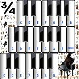 ¾ de los instrumentos de música