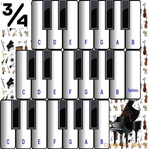 ¾ Musikinstrumente - Sitar-gitarre