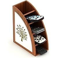 Bluewud Otto Multipurpose Remote/Stationery/Desk Organizer Holder Stand (Walnut, Tree)