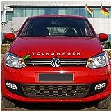 CarMetics Volkswagen 3D Letters (3D Stickers 3D Logo 3D Emblem for VW Polo Tiguan Ameo Jetta Vento Bonnet Dickey and Doors Ac