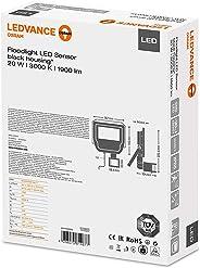 Ledvance Led Sensörlü Projektör 20W 1900 Lümen, Sarı Işık, Siyah Kasa