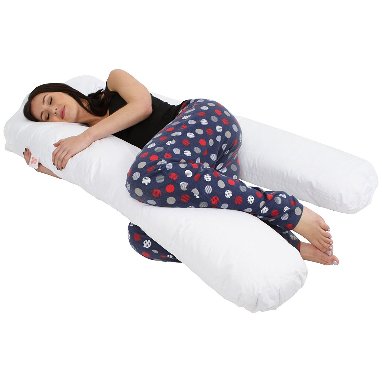 Silver SleepyNights U Shape Pregnancy Maternity Support Pillow with Removable Velvet Cover