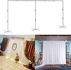 Ukmaster Hintergrund Halterung 3 X 6m Hintergrund Unterstützung Höhenverstellbar Ständer Edetstahl Rahmen Mit Solide Basis Für Fotostudio Party Hochzeit Küche Haushalt