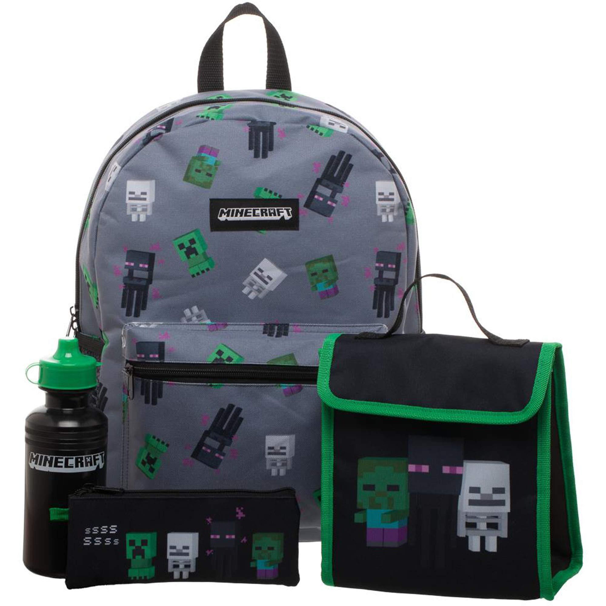 Precio 50% diseño de calidad seleccione para oficial Mochila Minecraft Infantil - Set de 4 Piezas - Disfraceslandia