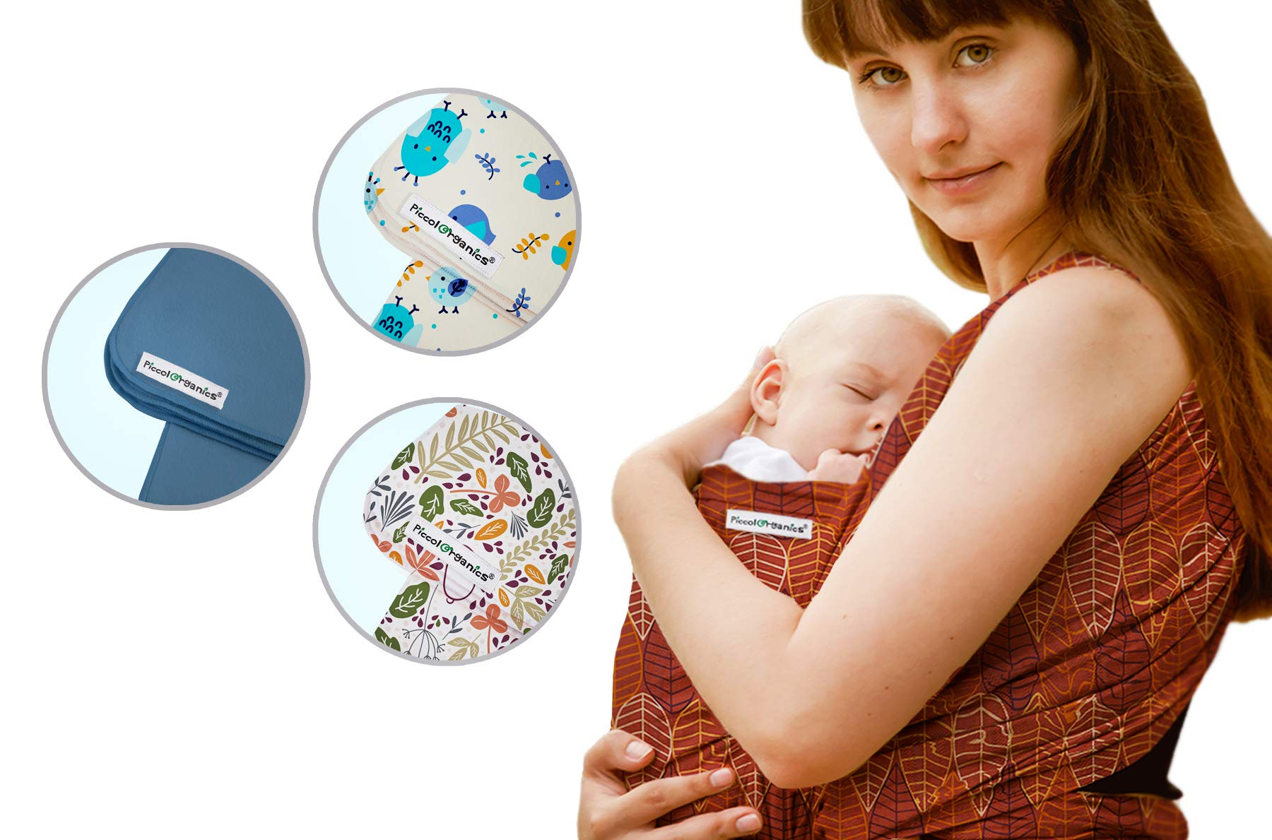 Hypoallergenic GOTS Organic Certified Cotton Baby Wrap Sling Carrier | No Antracene | Certifications: CPSIA, GOTS, CCPA, UK/EU, Safety Tested | Washing & Drying Machine | Newborn | Infant | EU Brand Piccolorganics Certifications: GOTS Organic Cotton, CCPA, CPSIA, CPC, EN 1462. EU/UK Regulation. Weight and resistance certification. For 6lb/2.7kg - 35 lbs/16kg - For Newborns up to 2 years old. European Brand. 520cm x 55cm The PiccolOrganics organic baby wraps are manufactured with premium materials to ensure years of use, through repeated washes and drying cycles. Even better, you can use it in the Washing and Drying machine! 1