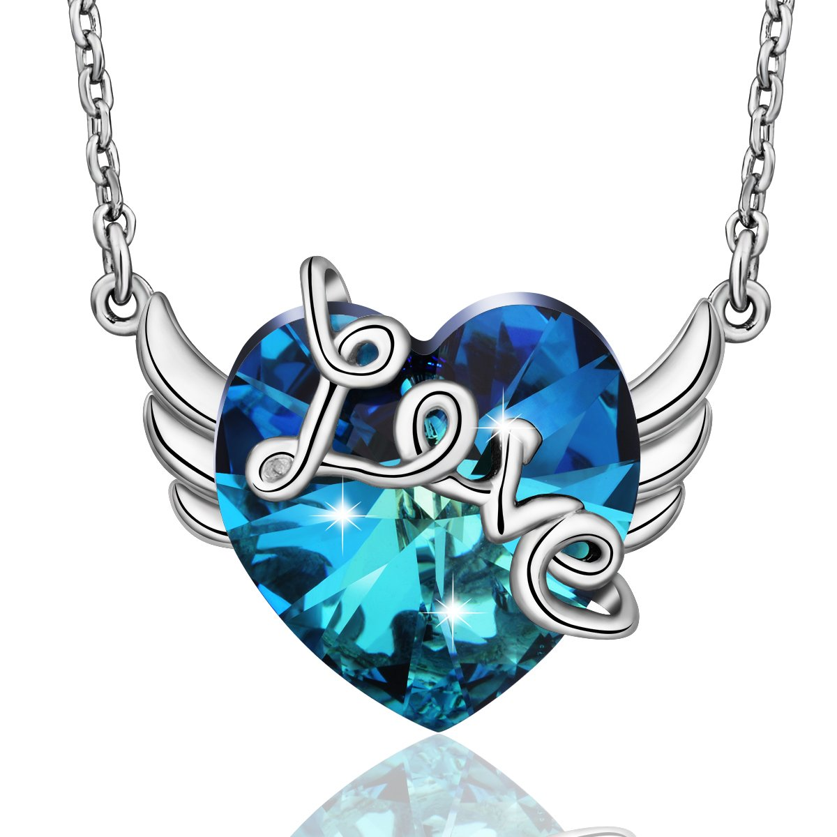 100 Pieces Angel Wing Heart Love Valentines Day Charm Pendant Jewelry Making