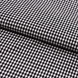 Stoff Meterware, Vichy Karo 2x2 mm, Schwarz Weiß,
