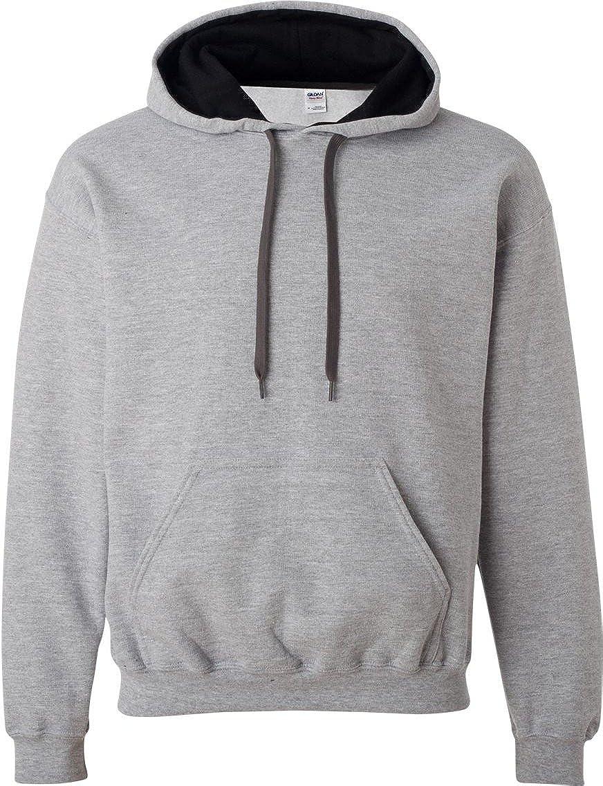 Gildan Mens Heavy Blend Contrast Hooded Sweatshirt / Hoodie ...