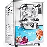 Olibelle 1400W 16-20L/H Machine à Crème Glacée Professionnelle en Acier Inoxydable Sorbetiere Electrique Commerciale Ice Crea