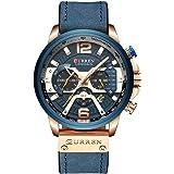 Anself CURREN 8329 Quartz Watch Business Men Simple Sport Wristwatch Three Sub-Dials Calendar Second Minute 24 Hour Display 3