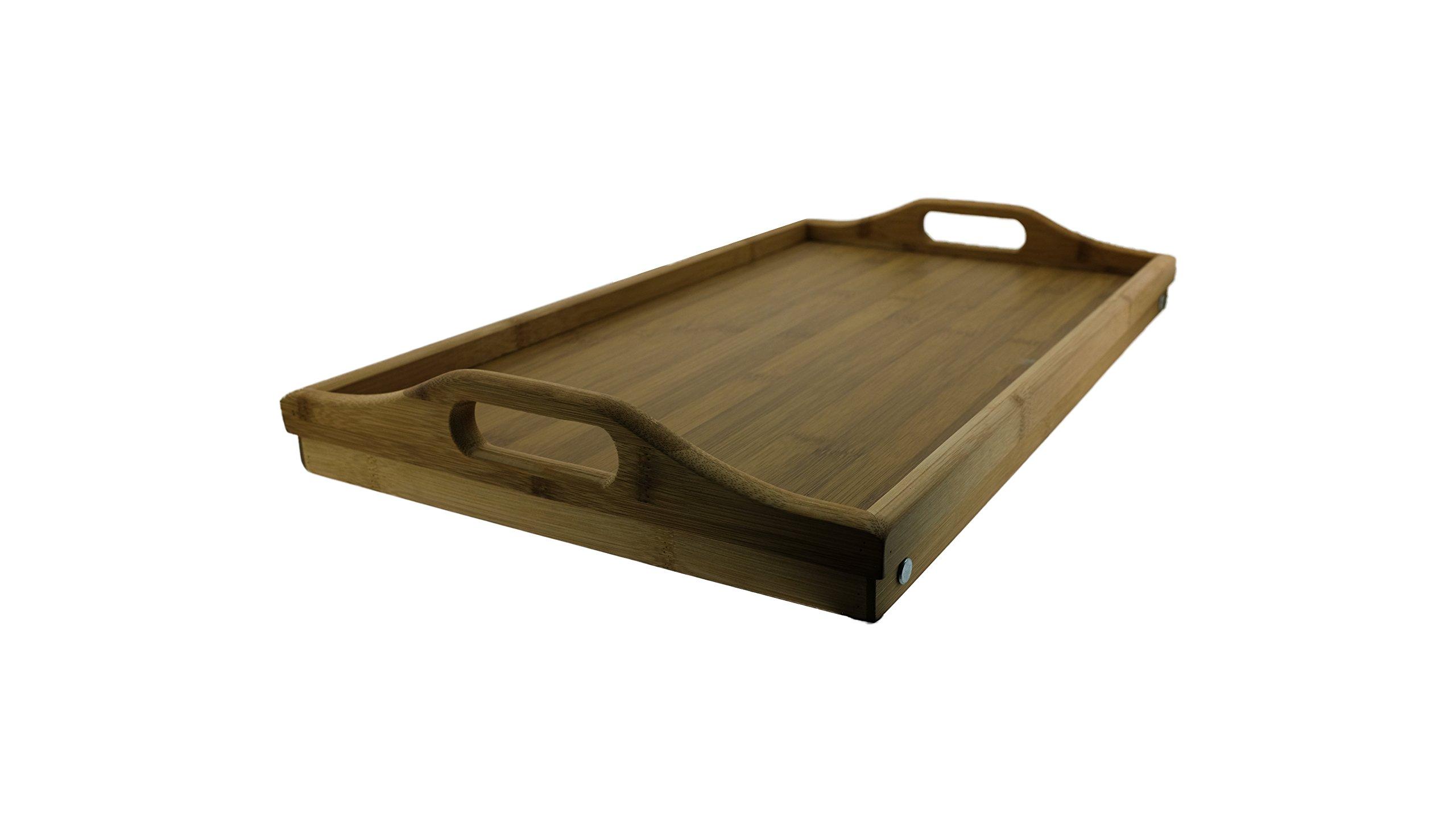 Tavoli Per Colazione A Letto : Jonas tavolo e vassoio da letto in bambù con manici e gambe