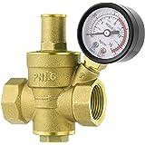 UKCOCO DN20 Heavy Duty Instelbare messing waterdrukregelaar ventielen met waterdrukmeter