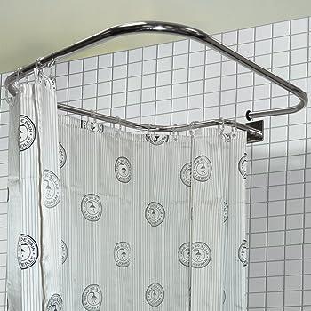 Barre de douche rectangulaire 69cm en acier inoxydable