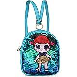 Aashiya Girls Glitter Sequins Messenger Sling bag/ Backpack Crossbody Shoulder Bag for Kids girls