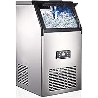 Machine à glaçons, 45 Glaçons Par 15Min, 80kg en 24 Hrs, 2 tailles de Glaçons, Machine a glacons professionnel, 11,5 KG…