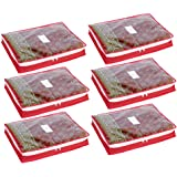 HomeStrap Non Woven Single Saree/Suits Cover with 3 Inch Height - Pack of 6 - Red