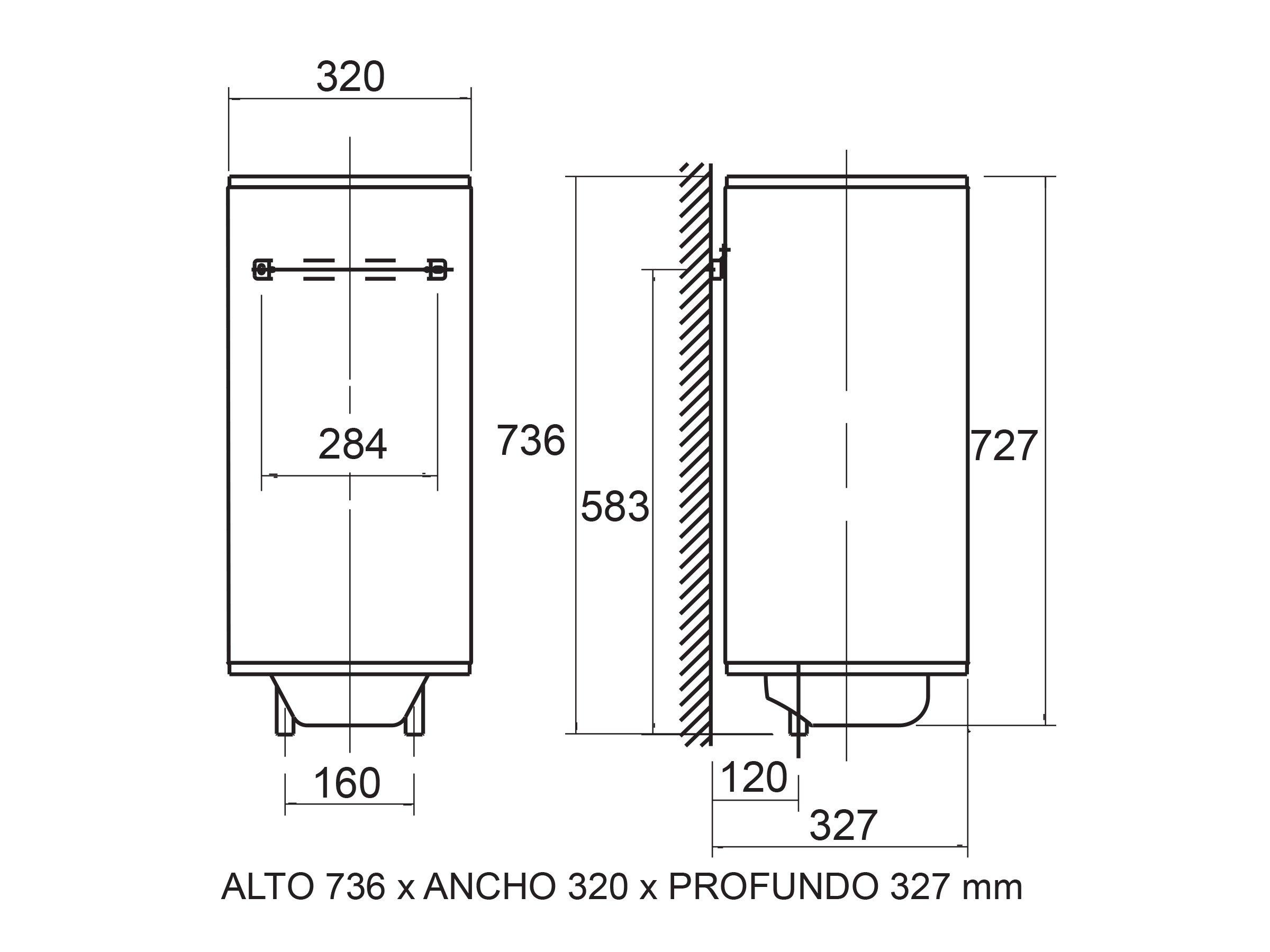 Cata Ts-30 Sl Termo eléctrico, 800 W, Blanco