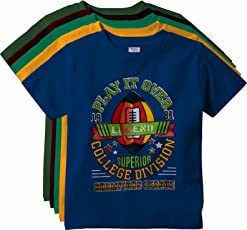 KGB Multicoloured Cotton t Shirts for Boys Pack of 5
