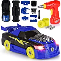 Toys Bhoomi 2-in-1 Take Apart DIY Racing Car Stem Learning Building Blocks Cars Toy with Electric Drill Tool, Lights and…
