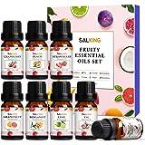 Aceites Esenciales Naturales SALKING Frutos Aceites Esenciales Para Humidificador Difusor Top 8 x 10 ml Set 100% Natural Puro