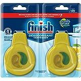 Finish Désodorisant Lave-Vaisselle, Parfum Citron/Citron Vert, Efficace jusqu'à 120 lavages - Lot de 2