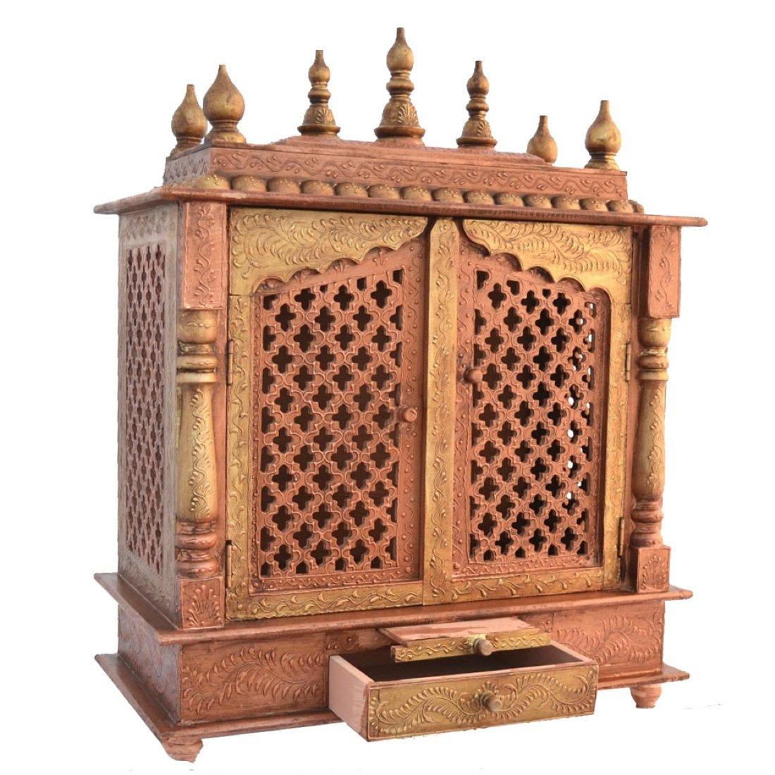 Jodhpur Handicrafts Wood Home Temple , Brown: Amazon.in: Home U0026 Kitchen