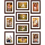 Amazon Brand - Solimo Collage Set of 10 Brown Photo Frames (6 X 8 Inch - 10)