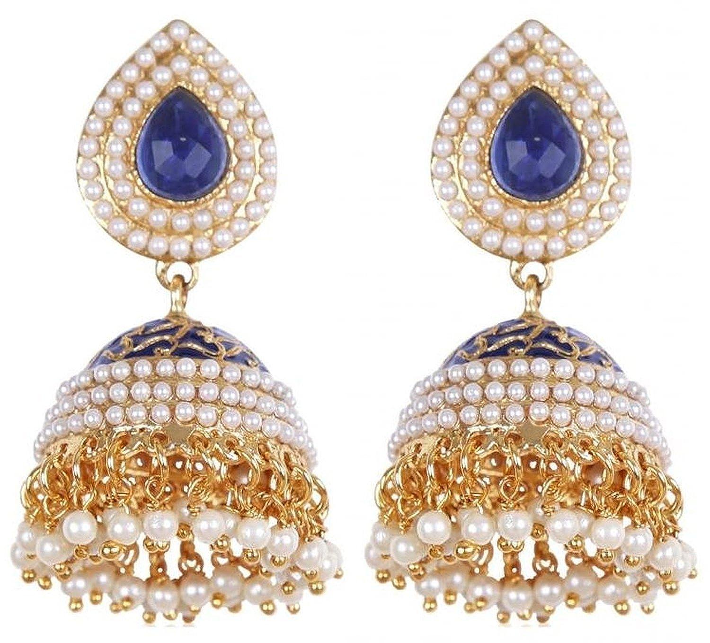 Buy Shining Diva White Gold Plated Jhumki Earrings For Women ...