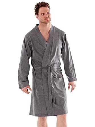Mens Dressing Gown Lighweight Cotton Rich Jersey Summer: Amazon.co ...