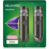 Nicorette QuickMist Cool Berry Mouth Spray, 1 mg/Spray,Duo Pack - 2 x 150 Sprays (Quit Smoking & Stop Smoking Aid)