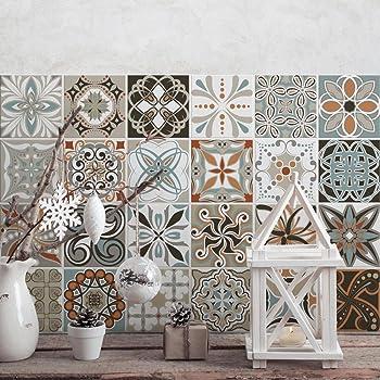 24 pieces carrelage adh sif 20x20 cm ps00054 oslo adh sive d corative carreaux pour. Black Bedroom Furniture Sets. Home Design Ideas